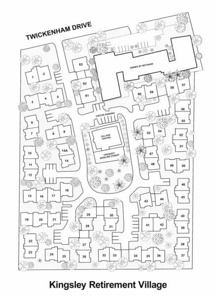 Kingsley Retirement Village - Ground Map