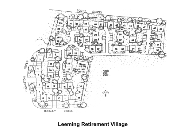 Leeming Retirement Village - Ground Map